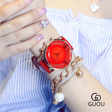 New Fashion Big Dial Women Watches Rose Gold Ladies Bracelet Watch Women Crstal Casual Dress Quartz Wristwatch Hour montre femme kevin fashion women red watch student quartz analog watches leather wristwatch elegant vintage casual crystal montre femme hour