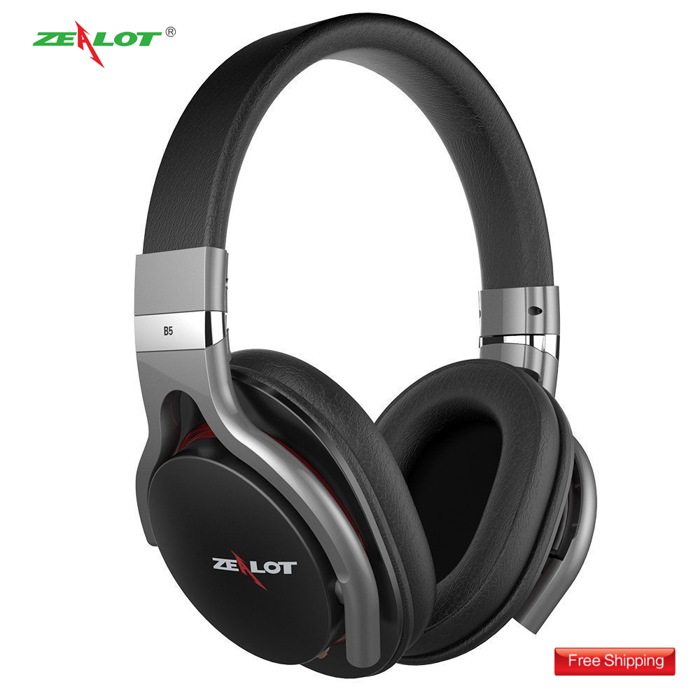 Zealot B5 Wireless Bluetooth Headset fone de ouvido Stereo Earbuds-Bluetooth Music/Phone/Redial-TF Card with AUX Cable for PC jr h15 headphone bluetooth wireless sport sweat earphone stereo bass music aux headset with microphone for iphone fone de ouvido