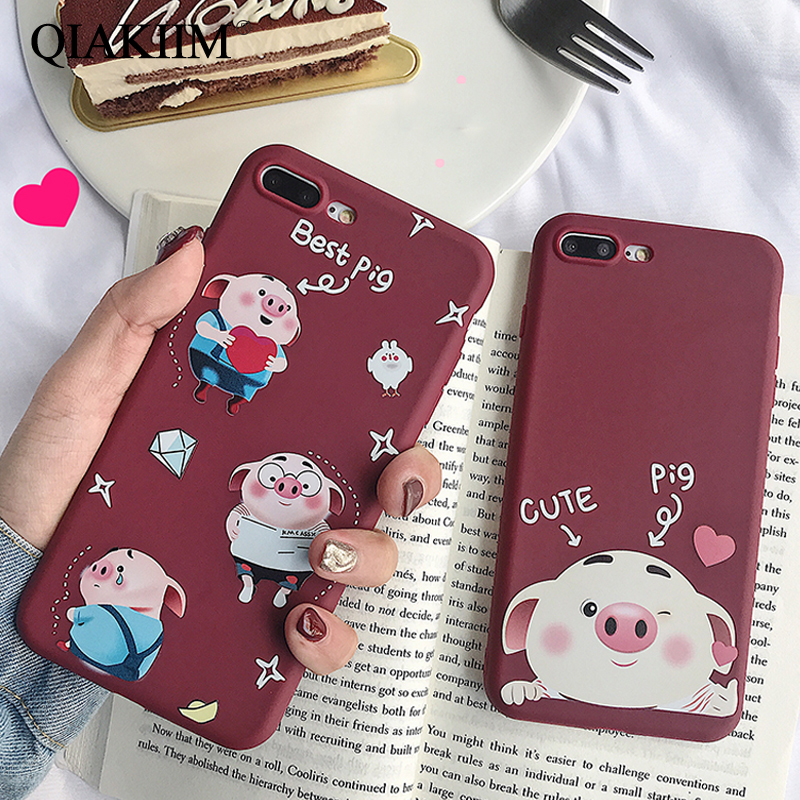 iPhone 7 8 Plus case Silicon Cute Soft