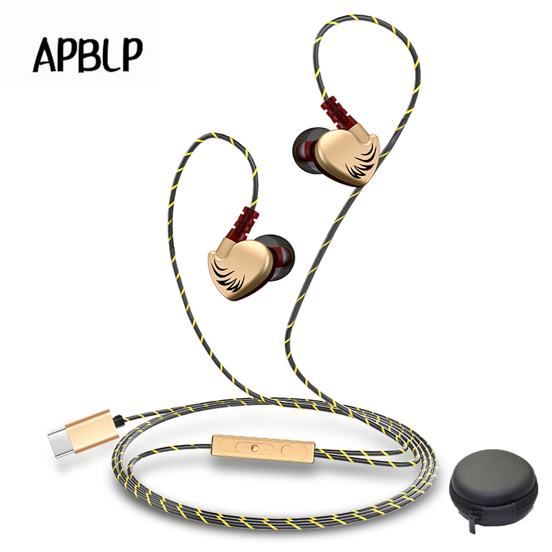 Type-c Headphone with Mic Sport Ear Hook Super Bass Music Earphone Handsfree Headset for Leeco Le Max/2/Pro/3 Xiaomi 5 Earbuds