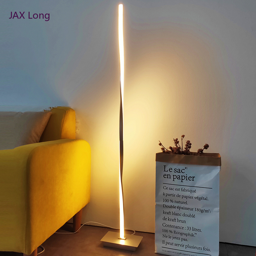 Modern LED Floor Lamp Nordic Loft Metal Aluminum Shadeless Dimmable Standing Lights Fixtures Living Room Bedroom Decor Luminaire