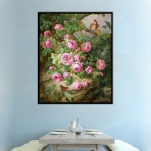 New Sale The Wild Rose in the Mountains Bird Dragonfly Butterfly Flowers & Animals Oil Wall Art Painting Print Canvas for Home
