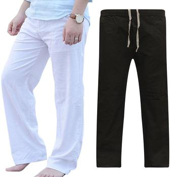 Men Casual Loose Breathable Dance Pants Elastic Drawstring Fitness Trousers new