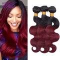 Ombre peruano onda do corpo do cabelo virgem pacotes tecer cabelo maxglam 1B 27 Peerless Virgem 99J Cabelo Vermelho Meches Cabelo Bresilienne lotes
