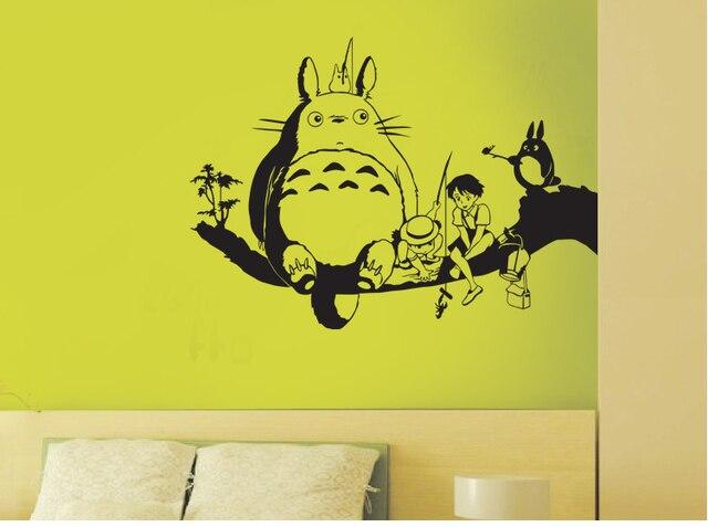 My neighbor totoro cartoon wall TV wall decoration The bedroom wall ...