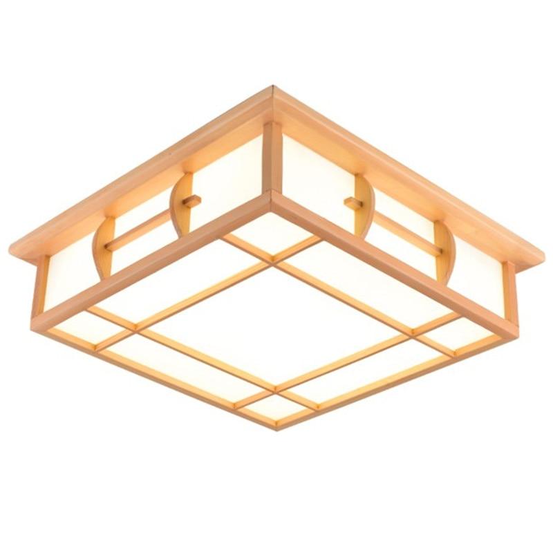 Led Ceiling Lights lamp Japanese ceiling light led solid wood lamps tatami ceiling light wooden lamp for living room bedrooms