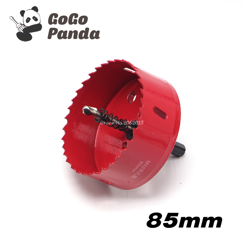 Free Shipping 85mm 3.35 Bi-Metal Wood Hole Saws Bit for Woodworking DIY Wood Cutter Drill Bit