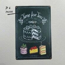 DL-Det er tid til te Home Decor Accents Wall Stickers & Murals Hogar til bar shop cafe restaurant
