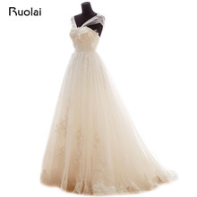 Real Image Elegant Tulle Wedding Dresses Handmade Flowers Beaded Long Bridal Gown Wedding Party Dress Vestido de Novia ASAF30
