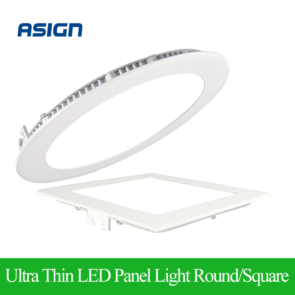 ultra thin led panel downlight 3w 4w 6w 9w 12w 15w 18w round square ceiling recessed panel light. Black Bedroom Furniture Sets. Home Design Ideas