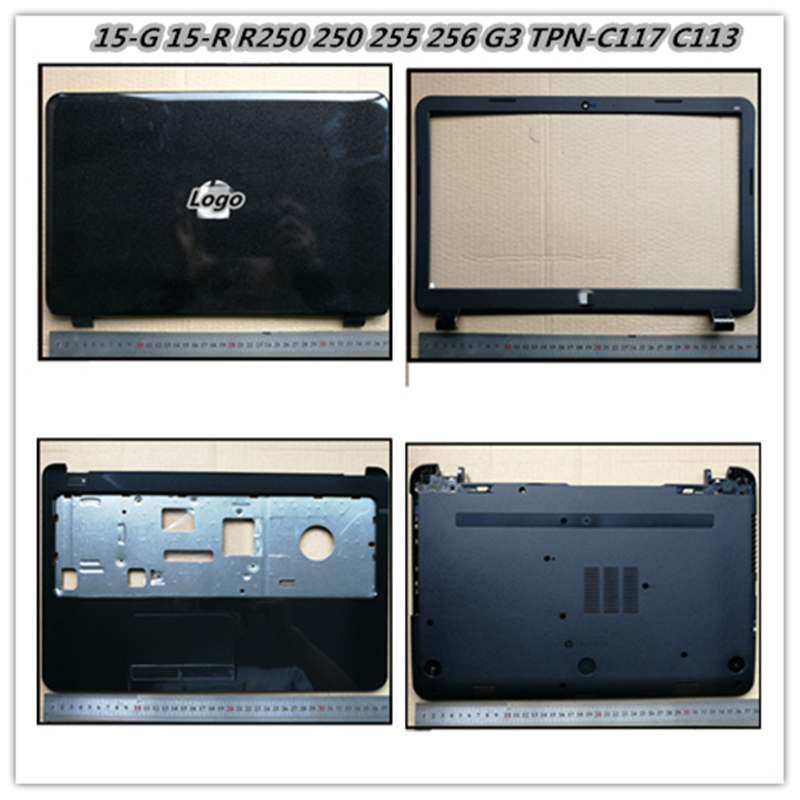 Laptop Back <font><b>Cover</b></font> <font><b>Top</b></font> <font><b>Case</b></font> For <font><b>hp</b></font> 15-G 15-H 15-R 15-S <font><b>250</b></font> 255 256 <font><b>G3</b></font> TPN-C117 C113 Bezel Front Housing Frame image