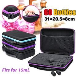 15ml 60 Bottles Essential Oil Storage Bag Box,EVA Essence Oil Bottles,Carrying Case ,Travel Portable Handbag,Organizer Supplies