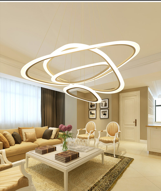 creative bedroom lighting. Sitting Room Postmodern Acrylic Rings Pendant Lamp Contemporary Personality Atmosphere Creative Restaurant Bedroom Light Lighting