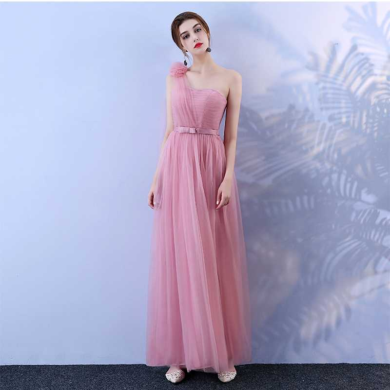 d85cc95652 Plus Size Pink Strapless Bandage Voile Long Women Summer Dresses ...