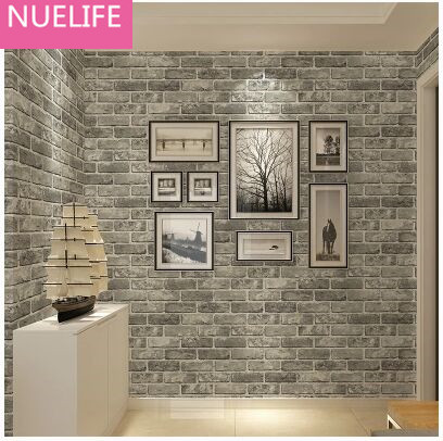 0.53x10m Retro Chinese Style Brick Pattern Wallpaper Living Room Bedroom Restaurant Apparel Hotel 3D Wallpaper N2