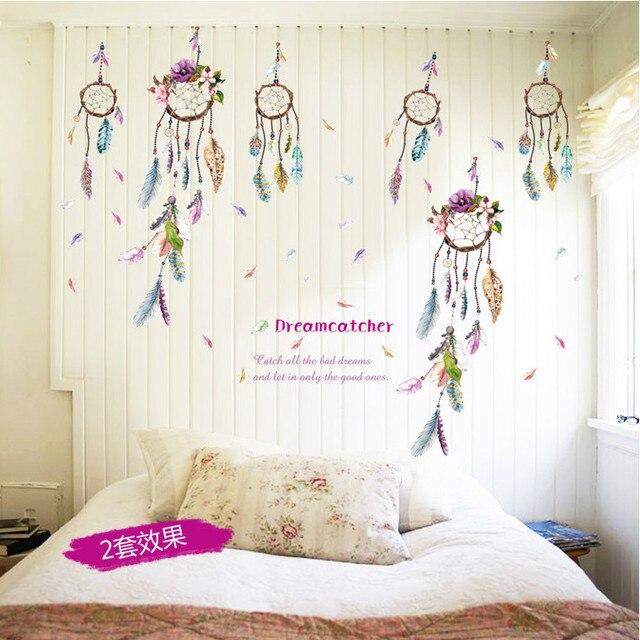 hot dreamcatcher feather home decal wall sticker bedroom living room rh aliexpress com