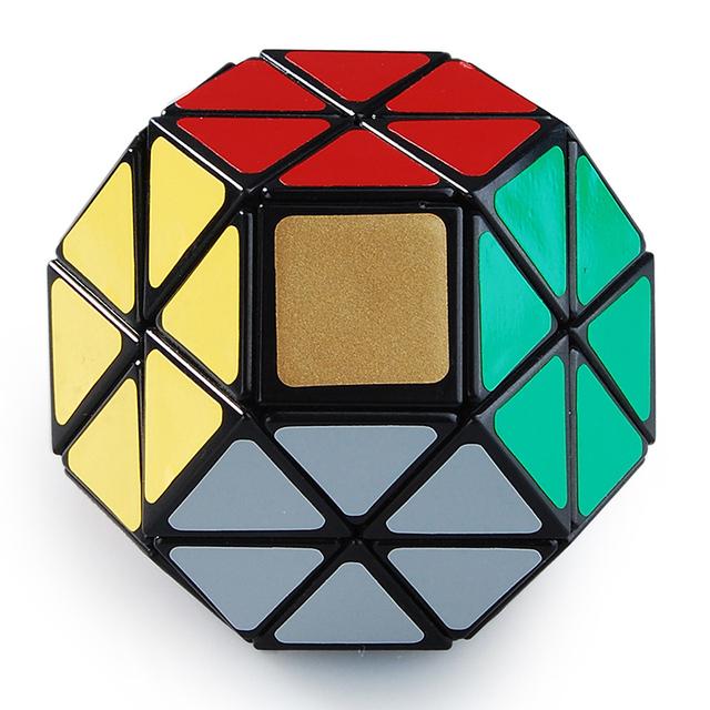 Joya Velocidad Lanlan Cubo Mágico Negro Niños Vendedores Calientes Twisty Puzzle Juguete para Los Niños