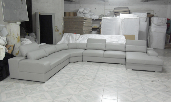 2013 latest house designs Moden leather sofa large size U shaped ...