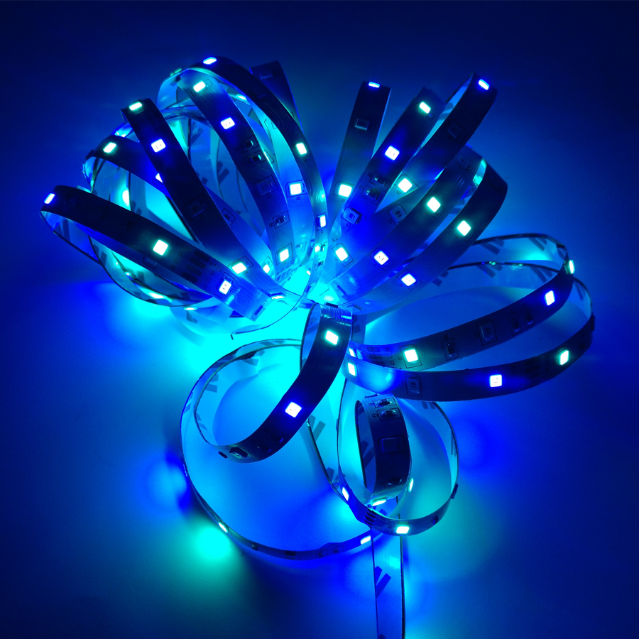 HTB1rZhLSrrpK1RjSZTEq6AWAVXaF RGB LED Strip Light SMD 2835 5M Waterproof RGB Tape DC12V Ribbon diode led Strips Light Flexible Stripe Lamp IR WIFI Controller