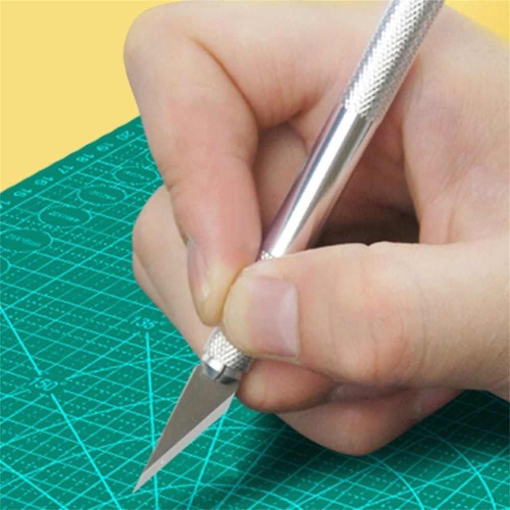 Herramienta de grabado de Metal profesional de Mango antideslizante de cuchilla de precisión de cuchillo artesanal portátil para Plantilla de papel de madera