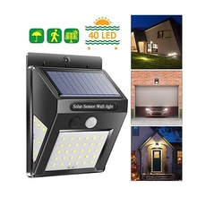 LED solar PIR motion sensor wall lamp 20+5+5 three-sided lighting outdoor waterproof energy-saving street garden light