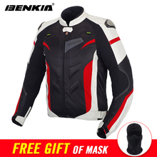 BENKIA Motorcycle Jacket Men Textile Motorbike Jacket Racing Riding Moto Jacket Armor Spring Summer Breathable Mesh Clothing