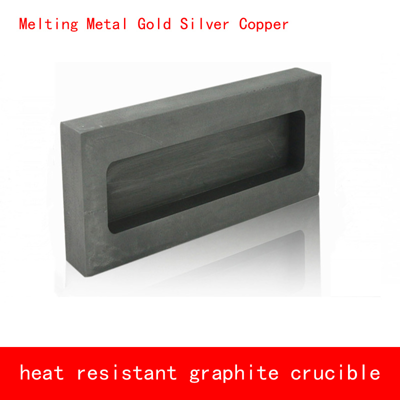 Graphite tank 125*60*40mm Melting Metal Gold 2.1kg Silver 1.1kg heat resistant graphite crucibleGraphite tank 125*60*40mm Melting Metal Gold 2.1kg Silver 1.1kg heat resistant graphite crucible