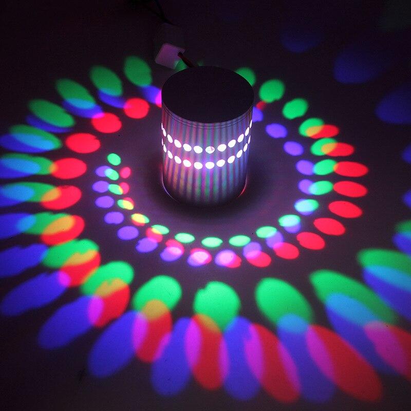 10X Creative mur LED lampe murale luminaire moderne luminaire lumineux applique 3 W AC85-265V décoration murale d'intérieur RGB/W/WW