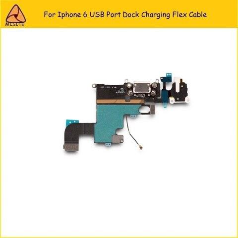 2Pcs/Lot New Phone Port Charging Flex for Iphone 6 6g 4.7 USB Dock Charger Port Connector Audio Jack headphone Flex Cable Pakistan
