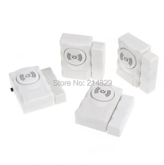 Home Security Alarm Systems Window Magnetic Sensor Warning Burglar Sensors 4pcs in a pack
