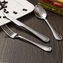 Promotion Dinnerware Set Culinary Food Cutlery Tableware Set Stainless Steel Dinnerware Set Dpoon Fork Knife 3pcs