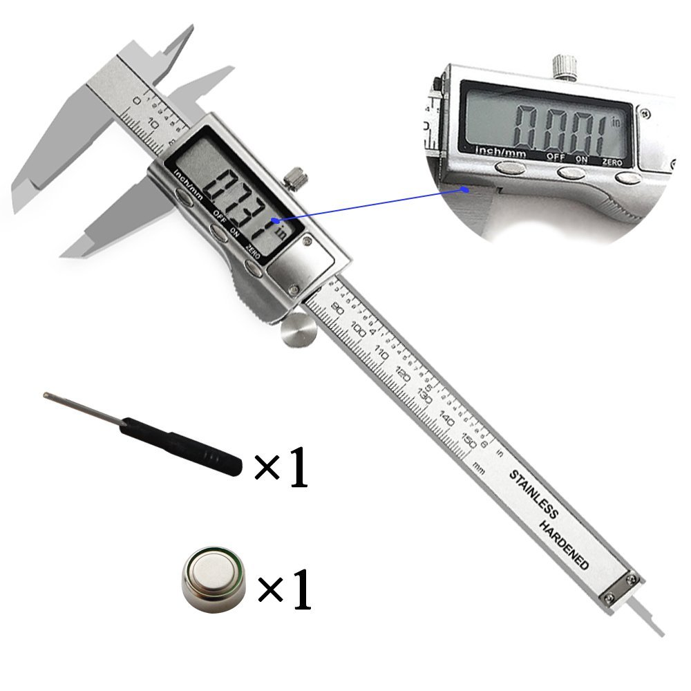 Polegadas de alta Qualidade do Metal 150mm de Aço Inoxidável Eletrônico Digital Vernier Caliper Micrômetro de Medição Frete Grátis