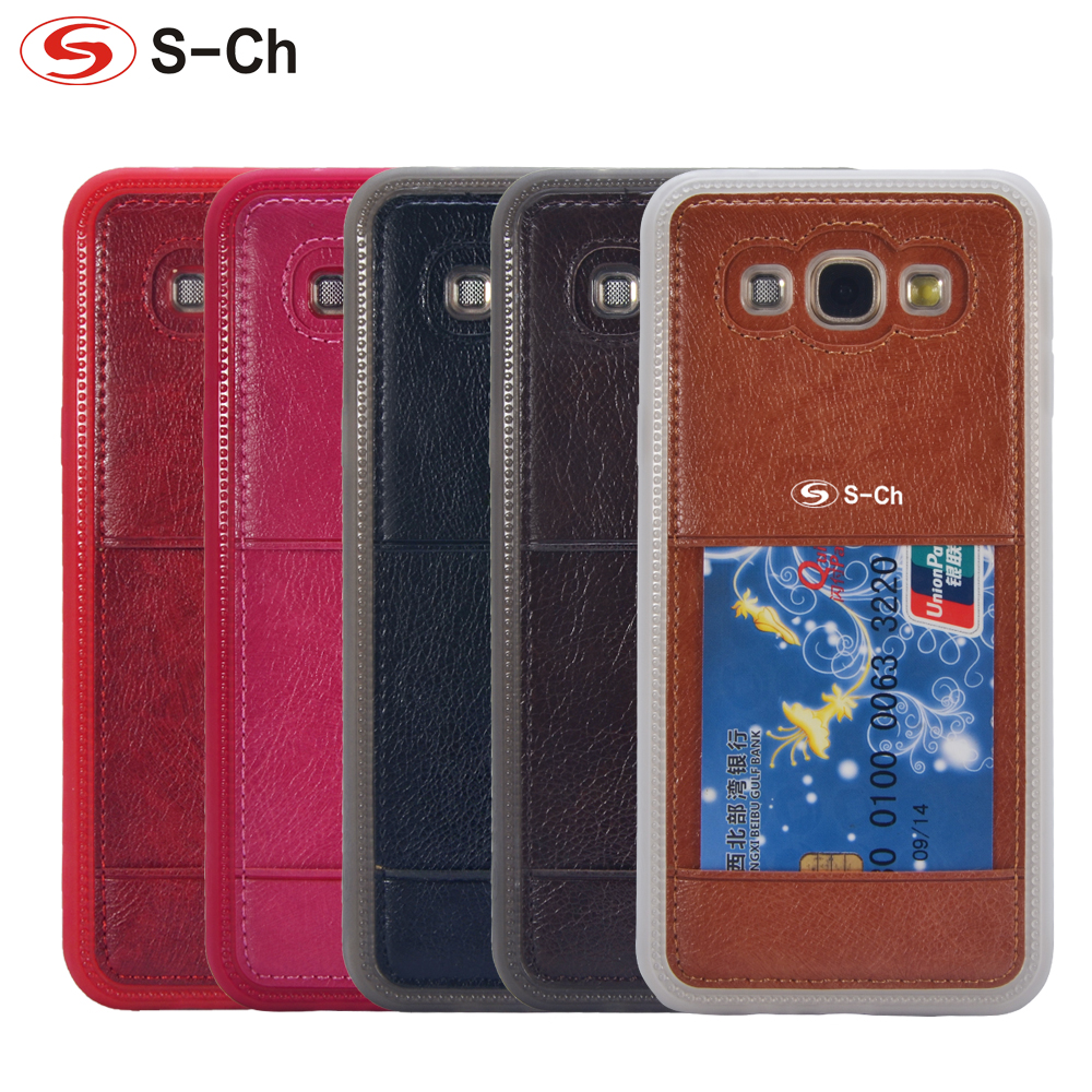 For <font><b>Samsung</b></font> Galaxy A8 <font><b>A8000</b></font> 2015 Case Quality Litchi Grain Leather Mobile Phones Cases Back Cover With Card Slot Free Shipping image
