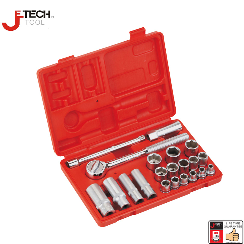 Jetech 21pcs 3/8 drive standard deep combination socket set with ratchet extension bar 6 mechanics tools sleeve wrench kit jetech 15pcs 1 2 dr metric socket wrench set with ratchet extention bar 5 inch kit ferramenta car tool sets lifetime guarantee