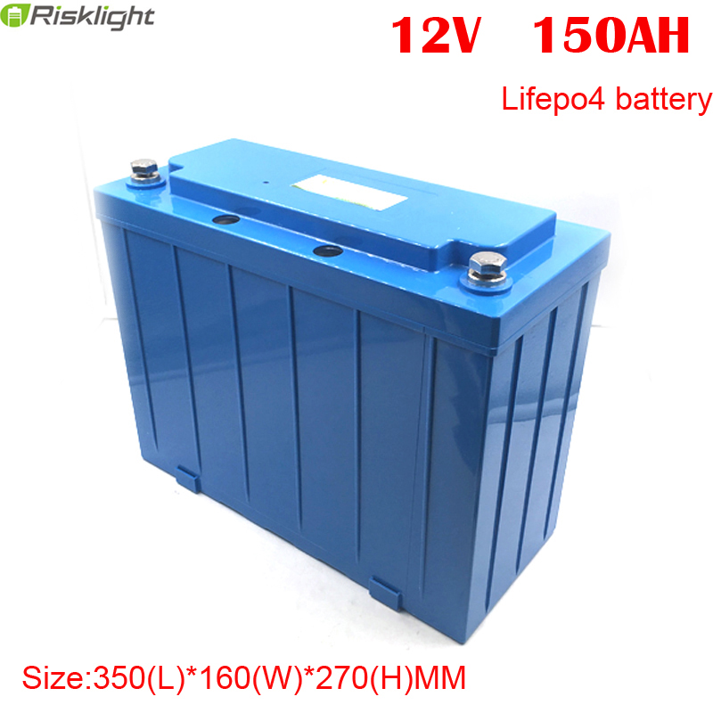 <font><b>LiFePO4</b></font> Deep cycle Rechargeable <font><b>12v</b></font> <font><b>150ah</b></font> lithium ion battery for solar power storage image