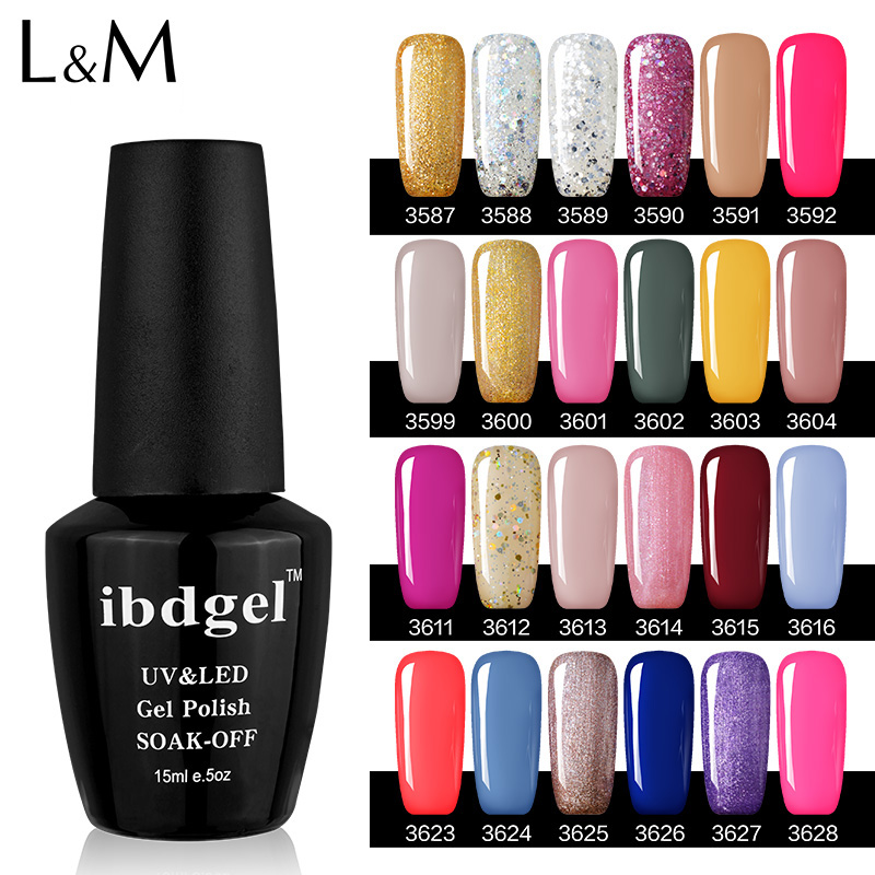 Fashion 18 Colors Mix Uv Gel Nail Art Glitter Dust Powder For Acrylic