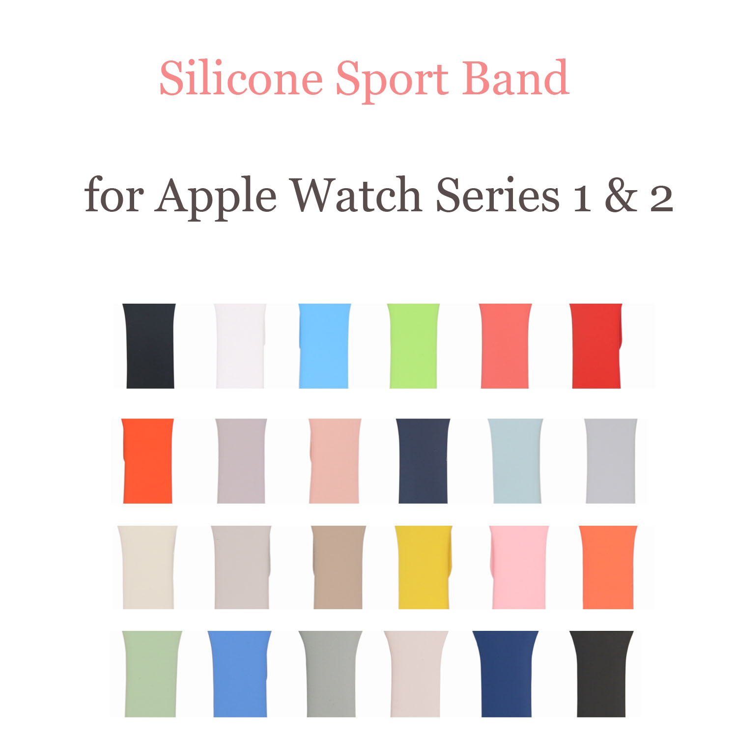 22 Colors Sport Silicone Band for Apple Watch Band Series 1 and Series 2 Silicone Strap Bracelet for iWatch 38mm 42mm Watchband r077 20ft double layer air inflatable arch tent inflatable event arch inflatable arch inflatable start finish line arch