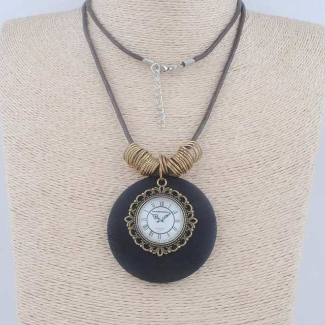 New maxi collier men jewelry collares vintage necklaces clock alloy new maxi collier men jewelry collares vintage necklaces clock alloy wood pendants love choker rope statement aloadofball Image collections