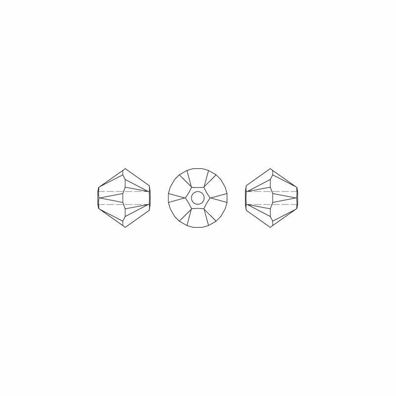 Transparante Ab 100 Pc 4 Mm Oostenrijk Crystal Bicone Kralen 5301 Charm Glas Kraal Voor Sieraden Maken S-27