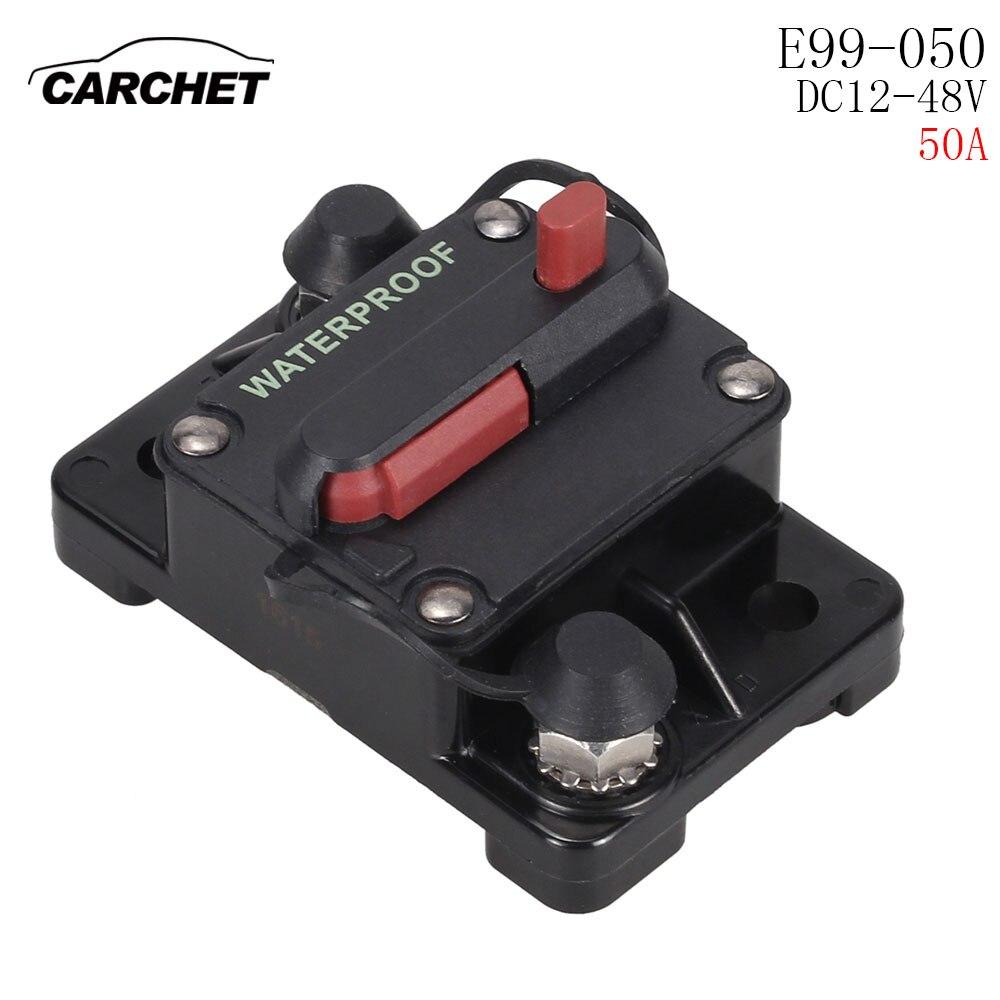 Auto Recupero Automatico di Commutazione Fornisce Alimentazione 50A 60A 70A 80A 90A Fusibile Car Audio Circuit Breaker Fuse Holder Blocco Assicurazione