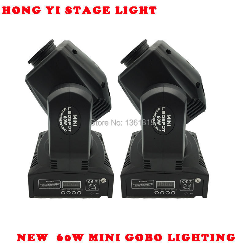 60W LED Spot Moving Head Light/USA Luminums 60W LED DJ Spot Light 60W gobo moving heads lights super bright LED DJ Spot Light 90w led spot moving head lights dmx512 led moving head gobo prism function electronic focus dj spot light mini dj diso moving