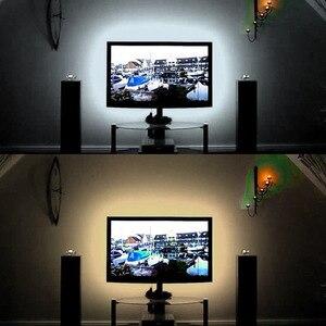 Image 1 - USB LED לילה אורות DC5V USB כבל 50 CM 1 M 2 M 3 M 4 M 5 M גמיש lampara LED רצועת אור מנורת SMD3528 עבור טלוויזיה/מחשב/מחשב נייד מנורה