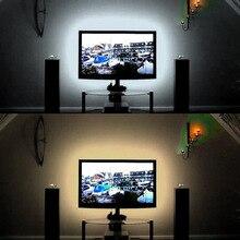 USB LED lampki nocne DC5V kabel USB 50CM 1M 2M 3M 4M 5M elastyczna lampara taśma LED lampa światła SMD3528 do telewizora/komputera/laptopa lampa