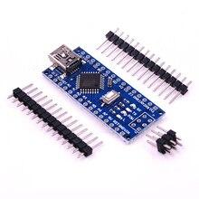 100PCS NANO 3.0 Atmega328P คอนโทรลเลอร์สำหรับ NANO CH340 USB DRIVER 16MHz ไม่มีสายสำหรับ Arduino