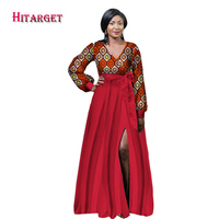 2017 African Dresses For Women African Bazin Riche Dress Dashiki Women Dress Cotton African Print Clothing