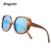 New Fashion Products Men Women Glass Bamboo Sunglasses Au Retro Vintage Wood Lens Wooden Frame