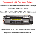 Q5949A Q7553A HP 49A 53A Series Toner Cartridge For 1160, 1320, M2727, P2014, P2015 (Universal) Black  High Yield (3,000 Yield)
