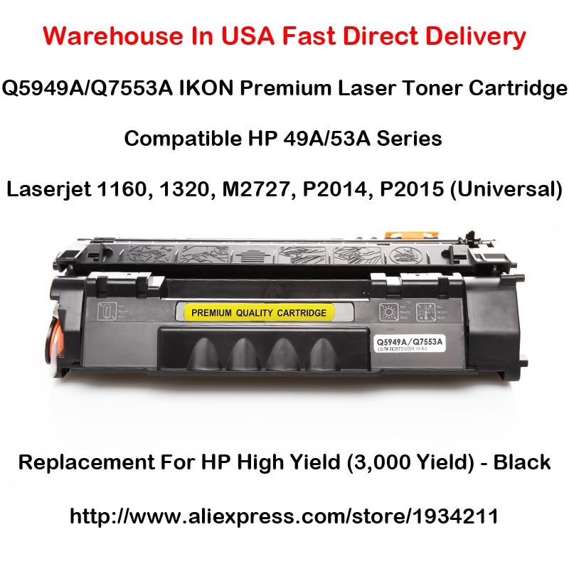 Q5949A Q7553A HP 49A 53A Serie Tonerkartusche Für 1160, 1320, M2727, P2014,...