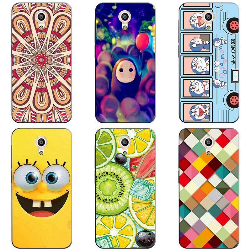 For Vodafone Smart Turbo 7 VFD500 Soft Silicon Case Cover Soft TPU phone shell Colorful printing Case Painted Flower Cases