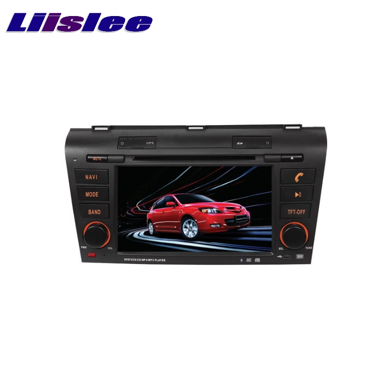 For <font><b>Mazda</b></font> <font><b>3</b></font> 2003~2009 LiisLee Car Multimedia TV DVD <font><b>GPS</b></font> Audio Hi-Fi Radio Stereo Original Style Navigation NAV NAVI <font><b>MAP</b></font> image